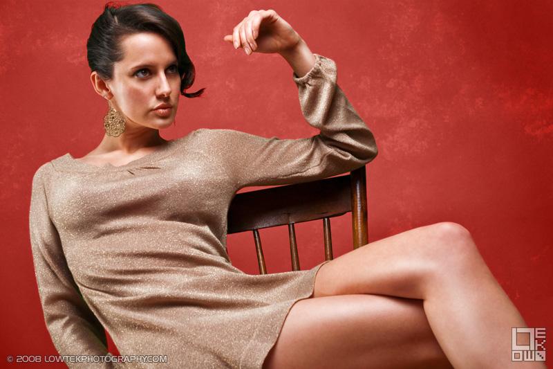 Shayna on Red. Model: Shayna Jordan. ©2008 Low Tek Photography